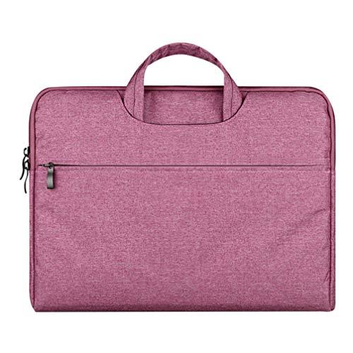 Solustre Funda para Portátil de 11.6 Pulgadas con Asas Maletín para Portátil Bolso de Negocios Funda para Portátil Compatible con Macbook12 Air Pro (Rosa)