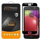 (2 Pack) Supershieldz Designed for Motorola (Moto E4) and Moto E 4th Generation Tempered Glass Screen Protector, (Full Screen Coverage) Anti Scratch, Bubble Free (Black)