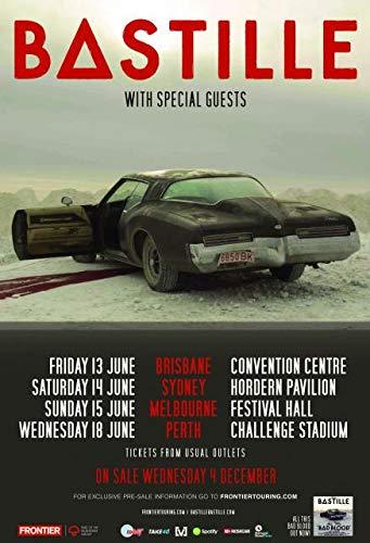 Bastille - Bad Blood – Australian Tour Poster – A4 Size Plakat Größe DAN Smith