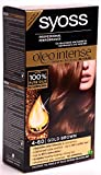 Syoss Oleo Tinte para el cabello intenso, 100% aceites puros, 0% amoniaco, 4-60, marrón dorado