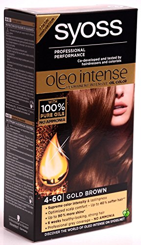 SYOSS Oleo Intense Haarfarbe 100% Pure Oils 0% Amonia 4-60 Goldbraun