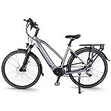 Accolmile City Bicicleta Eléctrica de Trekking Urbano 28', BAFANG 36V 250W M200 Torque Mid Motor, Ebike para Hombres y Mujeres, Batería de Litio de 14,5 Ah 522 WH, Shimano 7 Velocidades