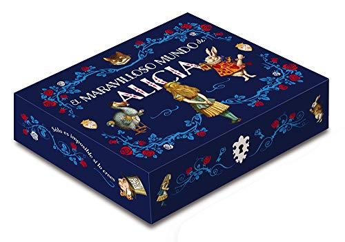 Caja maravilloso mundo de Alicia: Incluye: 2 libros, libreta, 5 postales y un imán (Caja Clásicos Ilustrados)