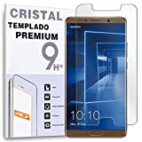 REY Protector de Pantalla para Huawei Mate 10, Cristal Vidrio Templado Premium
