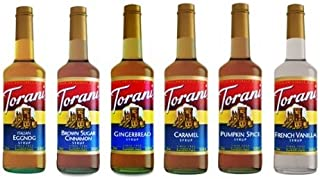 Torani Syrups Assorted Winter Flavors, 750-ML (Pack of 6)