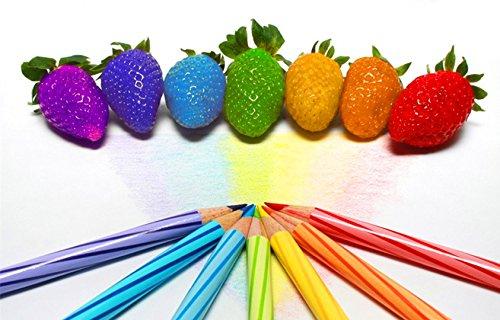 SVI Les semences de la fruits au Par Plus de l'arc iris de la fraise graines de fruits multi-color 200 semences/sac