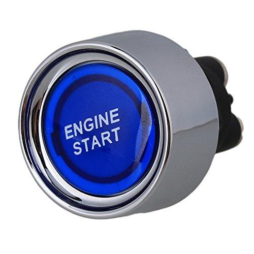 DC12V-24V Car Engine Start Ignition Starter Blue Indicator Push Button Switch for Racing Car