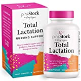 Pink Stork Total Lactation: Breastfeeding Support for Mom + Baby with Fenugreek, Increase & Enhance Milk Supply + Flow, Women-Owned, 60 Capsules