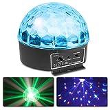Beamz mini Star Disco Ball Schwarz–Zubehör (schwarz, LED, 6Lampe (S), 3W, Bernstein, Blau, Grün, Rot, Weiß, AC)