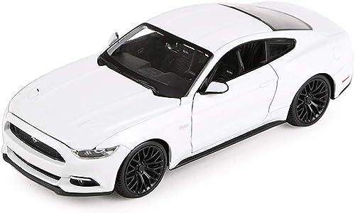 Modellauto Modellauto Ford Mustang GT Sportwagen Modell 1 24 Modell Druckguss Modell Legierung Modellsammlung Geschenk Dekoration (Farbe   Weiß)