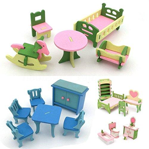 SODIAL 4 Conjunto de Accesorio en miniatura de casa de munecas de...