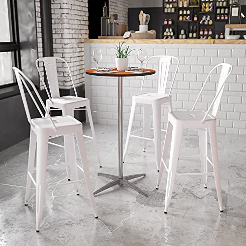 Flash Furniture 24'' Round Wood Cocktail Table with 30'' and 42'' Columns