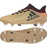 adidas X 17.1 SG, Chaussures de Football Homme, Or Tagome/Cblack/Solred), 39 1/3 EU