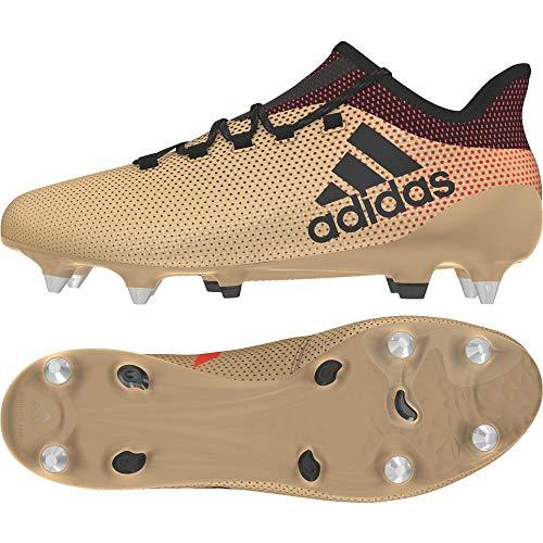 adidas Herren X 17.1 SG Fußballschuhe, Gold (Tagome/Cblack/Solred), 39 1/3 EU