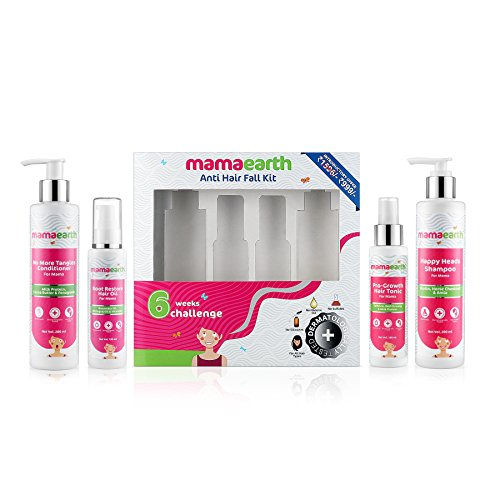 Mamaearth Anti Hair Fall Kit Complete Protection with Oil, Shampoo, Conditioner & Tonic, Made in the Himalayas