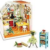 Rolife Kit maison de poupée miniature DIY Mini cuisine en bois pour adultes, meilleurs cadeaux pour les amis, les amoureux, la famille, le docteur domestique