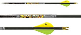 """Carbon Express Mayhem DS Hunter Arrows PreCut Inserts Installed Fletched with 2"""" Quadell Vanes- 3 Pack"""