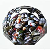 Ashtray Xuan - worth having 3D Fish Tank Stone Color Printing Style Crystal Glass Fashion Creative Personality Gifts Living Room With Smoke (Size : 25 * 25 * 4cm)