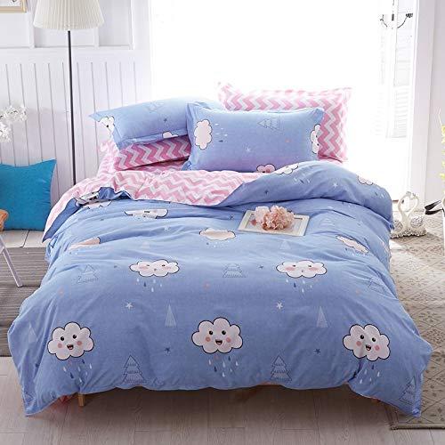 Huyiming bed linings wordt voor de vierdelige studentenhuisje van Scandinavisch linnen in eenvoudige stijl gebruikt. 2.24-delige set