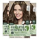 Clairol Natural Instincts Semi-Permanent Hair Color, 6 Light Brown, Pack of 3