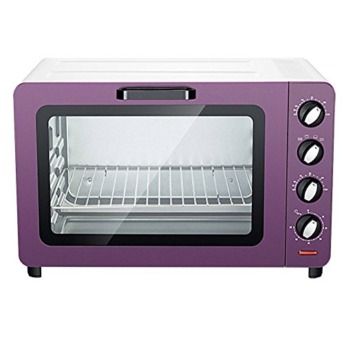 DULPLAY Mini Toaster Oven,Best Convection,30l Capacity,Digital Dining,Countertop Oven Pink Polished Stainless Toast Home Kitchen -Purple 37x32x27cm(15x13x11inch)