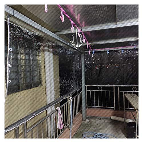 MAHFEI Lonas Impermeables Exterior, PVC Transparente Toldos Cubierta De Invernadero Dosel De La Planta con Ojales De Metal Valla De Balcón A Prueba De Viento para Tienda De Campaña