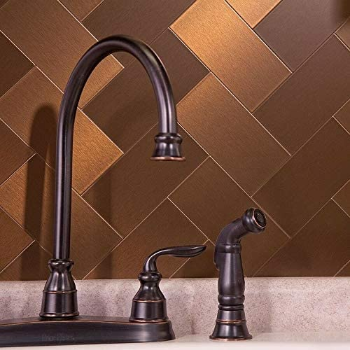 Self Adhesive Metal Accent outlet Wall - Bronze Qty Backsplash Max 61% OFF Kitchen