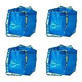 IKEA 401.854.74 BRATTBY Kleine Einkaufstaschen, blau, 4 Stück