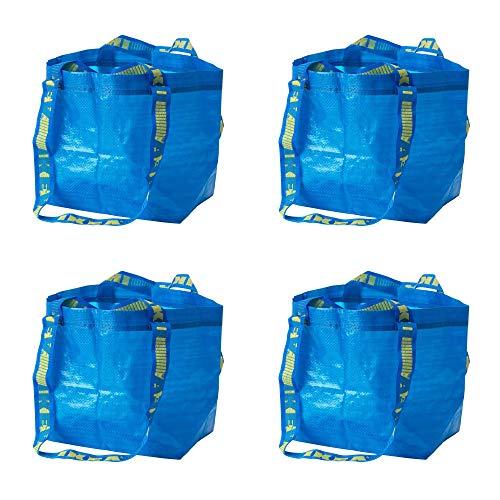 IKEA 401.854.74 BraTTBY Einkaufstaschen, klein, Blau, 4 Stück
