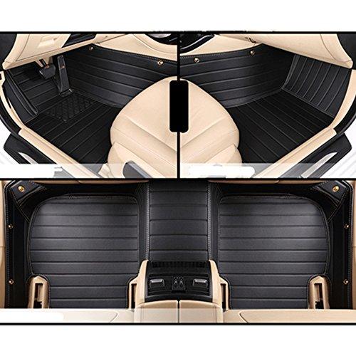 AoE Performance 9134683 Tailored Car Mats Premium Black with Black Trim