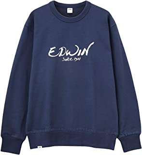 EDWIN(エドウィン) PRINT CREWNECK SWEAT 裏起毛 トレーナー 長袖 ET5657-4COL メンズ