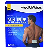 HealthWise Maximum Strength Pain Relief 4% Lidocaine Patch, 15 Count, Dustmop-399