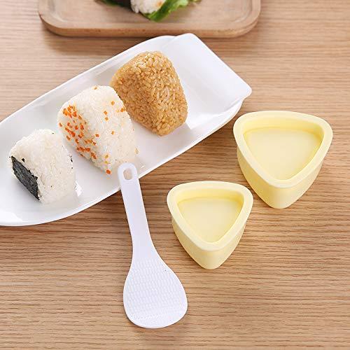ONIGIRI MAKER® für Onigiri Nigiri Sushi 3-teilig | Onigiri Sake Bento Maker Sushi Maker Form | geeignet für Nori Blätter Algenblätter | in einfachen Schritten zum perfekten Onigiri Sushi |