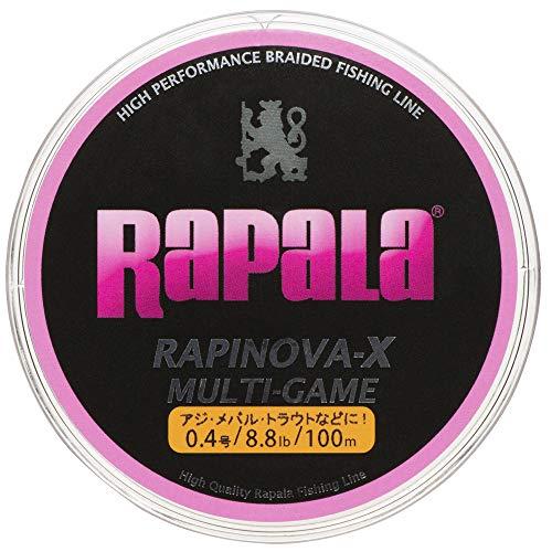 ラパラ ラピノヴァX マルチゲーム 100m 0.4号 8.8lb ピンク Rapinova-X Multi Game 150M . RLX100M04PK