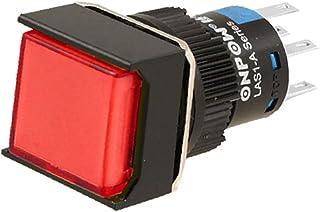 X-DREE Momentary Type AC 220V For UAE 5A Square Push Button Switch(Interruttore a pulsante quadrato tipo AC 220V For UAE 5...