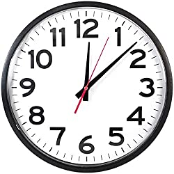 The Ultimate Wall Clock - Quartz Wall Clock, 10 Round, Quiet, Analog, Battery Operated, Easy to Read