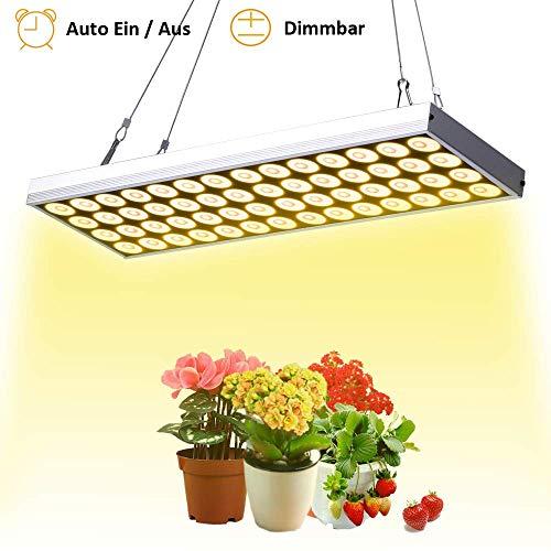 JCBritw 60W LED Pflanzenlampe Pflanzenlicht Dimmbarer Automatisch EIN/Aus Timer Vollspektrum White 3500K Wachstumslampen für Zimmerpflanzen Innenraum hängendes Kit für Sämling Gemüse Blume