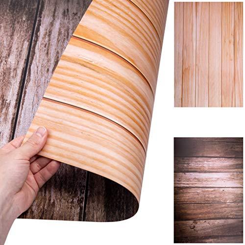 Lens-Aid 2-in-1 Foto Hintergrund BZW. Untergrund für Tisch und Rückwand: Flatlay Tabletop Background Design für Fotostudio (03)