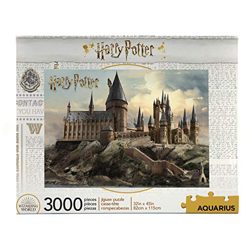AQUARIUS Harry Potter Puzzle Hogwarts Castle (3000 Piece Jigsaw Puzzle) - Officially Licensed Harry Potter Merchandise & Collectibles - Glare Free - Precision Fit - Virtually No Puzzle Dust - 32x45in -  68510