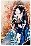 shaofu Neil Young Leinwand-Kunst-Poster und Wandkunstdruck,