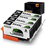 JARBO Compatible Ink Cartridge Replacement for HP 564XL, 4 Black, Used in HP Photosmart 5520 6520 7520 5510 6510 7510 7525 B8550 Premium C309A C410A Officejet 4620 Deskjet 3520
