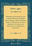 Informe del Presidente del Crédito Público D. Pedro Agote Sobre la Deuda Pública, Bancos y Emisiones de Papel Moneda y Acuñacion de Monedas de la Republica Argentina (Classic Reprint)