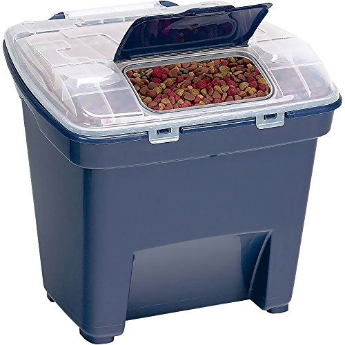 Bergan Smart Storage Food Storage, Navy, 50 lbs (Large)