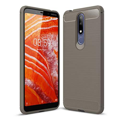 SCL Nokia 3.1 Plus Hülle Für Nokia 3.1 Plus Hülle, [Grün] Handyhülle Exquisite Serie-Carbon Design Schutzhülle mit Anti-Kratzer & Anti-Stoß Absorbtion Technologie für Nokia 3.1 Plus