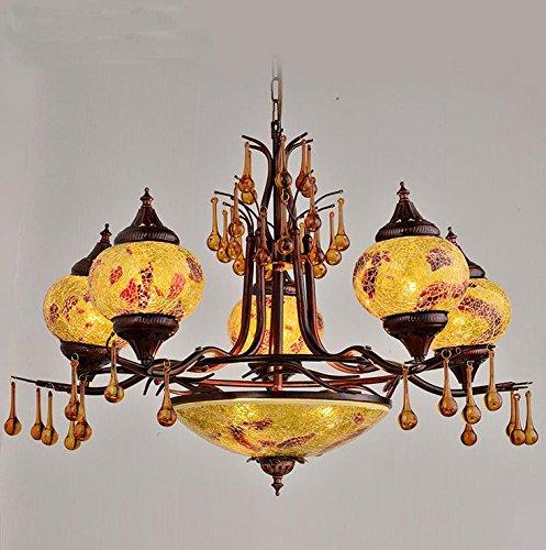Suspensions Bohème rétro salon lampe lampe à coucher double escalier Sud-Est asiatique villa grand lustre, 60w