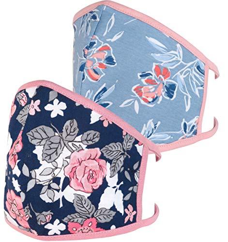 POBEAU DR. GLUECKSTEIN 2 x Maske aus 100% Baumwolle, wiederverwendbare & waschbare...