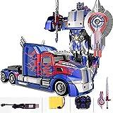 MUMUMI Transformers Optimus Prime Bumblebee niños del robot de juguete del coche con el arma 2.4G RC deformación Autobots sonidos de las luces 360 ° Rotación Drift Hobby Buggy juega el regalo de Año N