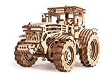 Wood Trick 3D Wooden Puzzle Tractor Mechanical Models, Assembly Constructor, Brain Teaser, Best DIY Toy, IQ Game for Teens and Adults
