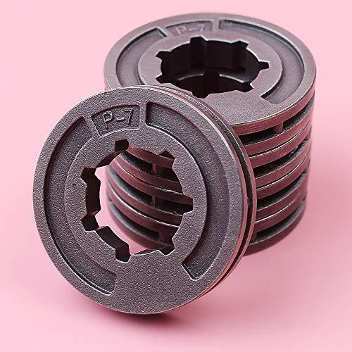 HAOHAO 5pcs / Lot de la Cadena de transmisión Piñón Rim Compatible with su Stihl MS260 MS240 026 026 MS251 MS211 MS261 Motosierra MS211C Recambio 17mm 3 / 8PL P7 ID