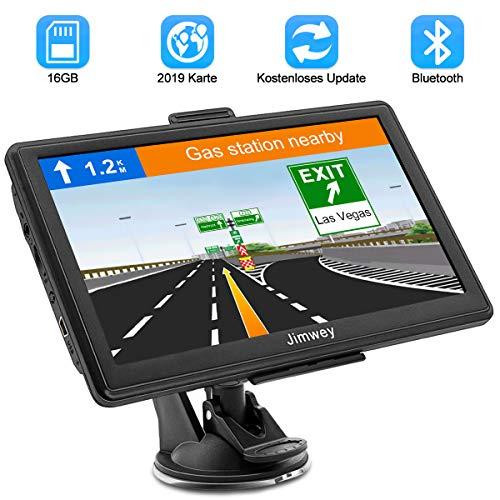 Bluetooth Navi Navigation für Auto Navigationsgerät LKW Navigationssystem PKW 7 Zoll 16G Kostenloses Kartenupdate mit Freisprecheinrichtung POI Blitzerwarnung Sprachführung Fahrspur 52 Europa EU Karte